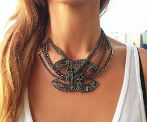 fashion, chanel, and necklace image