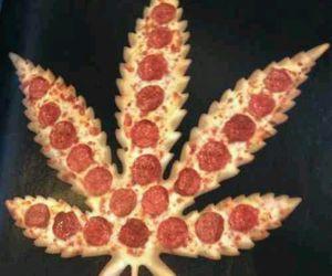 pizza, marijuana, and weed image
