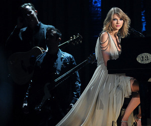 Taylor Swift, dress, and piano image