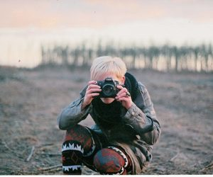autumn, blond hair, and canon image