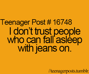 teenager post, jeans, and quote image