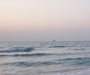 horizon, seaside, and sunrise image