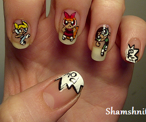 nails and power puff girls image