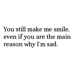 love, sad, and smile image