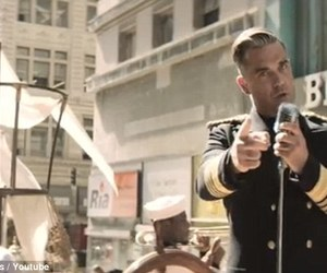 Robbie Williams, song, and go gentle image