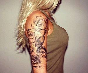 girl, sexy, and Tattoos image