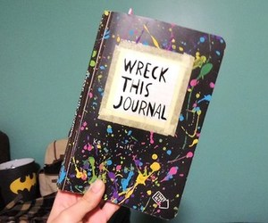 art, journal, and wreck image