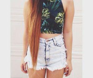 fashion, hair, and shorts image