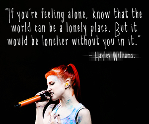 hayley williams and quote image