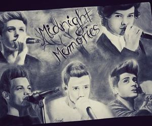 one direction, midnight memories, and drawing image