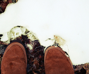 boots, snow, and winter image