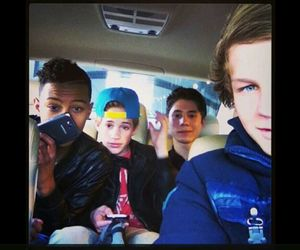 boys, car, and selfie image