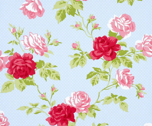 floral, flowers, and roses image