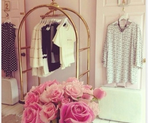 pink, rose, and clothes image