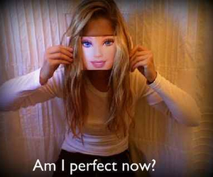 barbie, am i perfect now?, and quote image