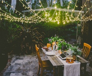 date, fairy lights, and lights image