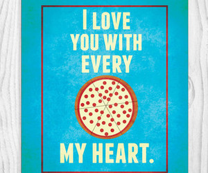 heart and pizza image