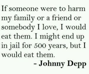 johnny depp, quotes, and family image