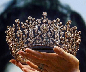 crown, girl, and royalty image