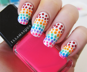 color, dots, and nails image