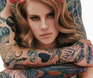 lana del rey, tattoo, and lana image