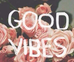 good vibes, flowers, and roses image