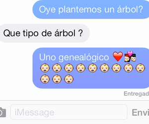 amor, arbol, and text messages image