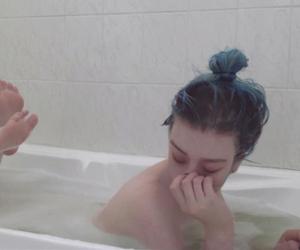 acid, grunge, and pastel hair image