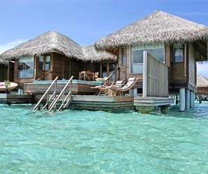 bora bora, paradise, and pretty image