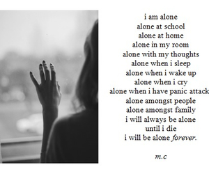 alone, sad, and depression image