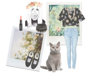 beauty, cats, and fashion image
