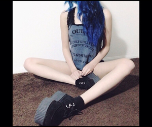 grunge, creepers, and blue image