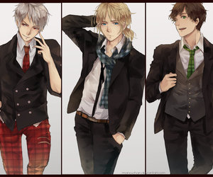hetalia, prussia, and spain image