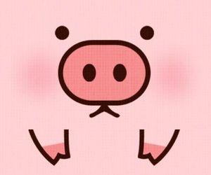 kawaii, lovely, and pig image