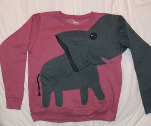 sweater, cute, and elephant image