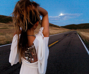 girl, fashion, and road image