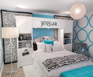 blue, bedroom, and teen image