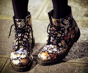 shoes, flowers, and boots image
