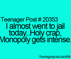 monopoly, teenager post, and funny image