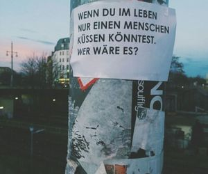 kiss, quote, and german image