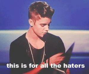 justin bieber and haters image