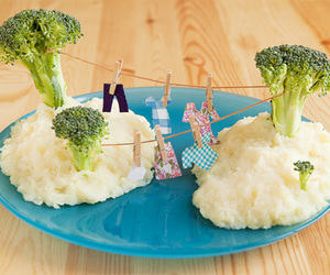 blue, broccoli, and clothes line image