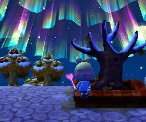 animal crossing, aurora, and aurora borealis image