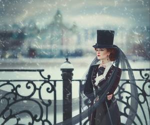 cold, hat, and photography image