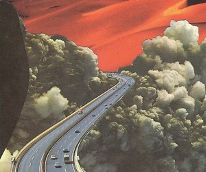 psychedelic and road image
