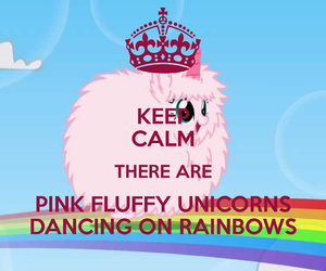 unicorn, fluffy, and keep calm image