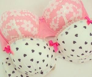 pink, bra, and girly image