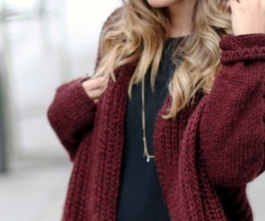 fashion, red, and sweater image