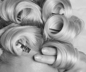 hair, beauty, and black and white image