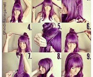 hair and purpule image